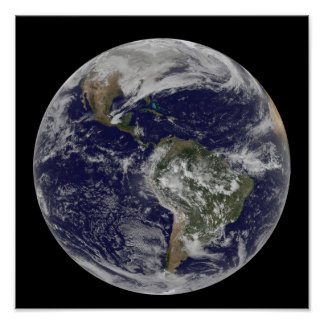 Full Earth showing North America and South Amer 6 Poster