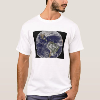 Full Earth showing North America and South Amer 6 T-Shirt