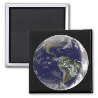 Full Earth showing North America and South Amer 7 Refrigerator Magnets