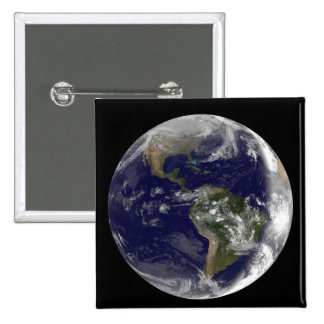 Full Earth showing North America and South Amer 7 Pinback Button