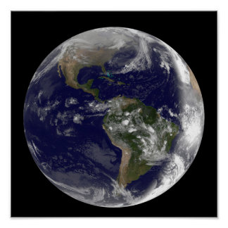 Full Earth showing North America and South Amer 7 Poster