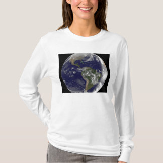 Full Earth showing North America and South Amer 7 T-Shirt