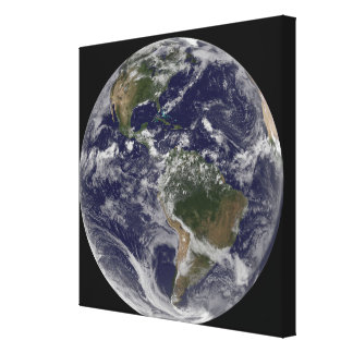 Full Earth showing North America and South Amer Canvas Print