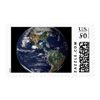 Full Earth showing North and South America Postage