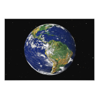 Full Earth showing South America Photo Print