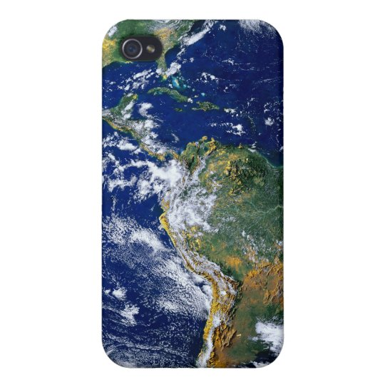 Full Earth Showing The Americas iPhone 4 Case