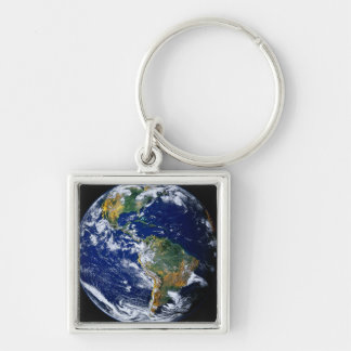 Full Earth Showing The Americas Keychain