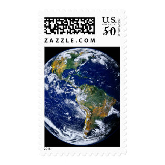 Full Earth Showing The Americas Postage