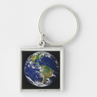 Full Earth showing the western hemisphere Keychain