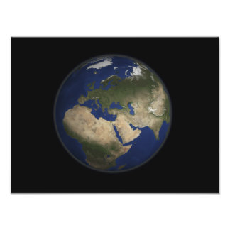 Full Earth view of Africa, Europe, and Middle E Photo Print