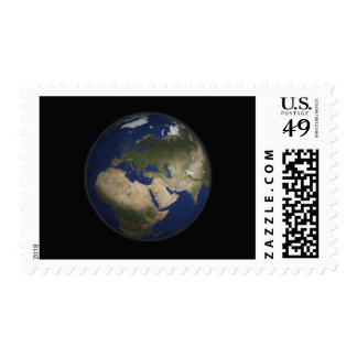 Full Earth view of Africa, Europe, and Middle E Postage