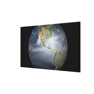 Full Earth view showing water vapor Gallery Wrapped Canvas