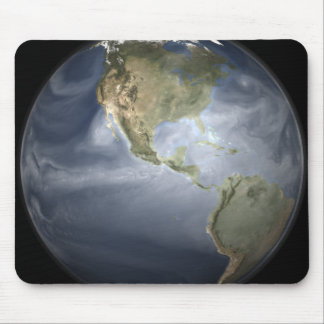 Full Earth view showing water vapor Mouse Pad
