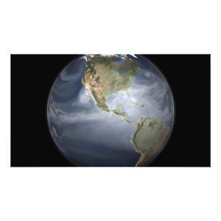 Full Earth view showing water vapor Photo Print
