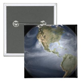 Full Earth view showing water vapor Pinback Button
