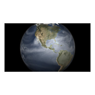 Full Earth view showing water vapor Poster