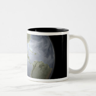 Full Earth view showing water vapor Two-Tone Coffee Mug
