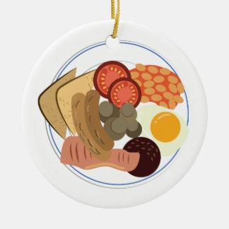 Full English Breakfast Ceramic Ornament