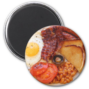 Full English Breakfast food continental egg sausages bacon tshirt 9457
