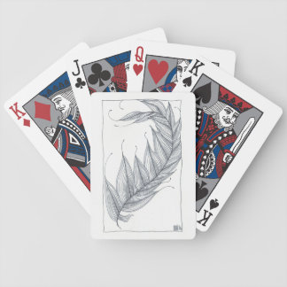 """Full Feather"" Blue/Red Playing Cards"