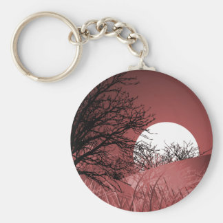 FULL FIELD MOON - RED KEYCHAIN