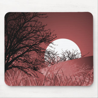 FULL FIELD MOON - RED MOUSE PAD