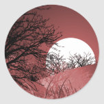 FULL FIELD MOON - RED STICKERS