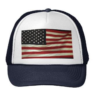Full frame waving U.S. flag Trucker Hat