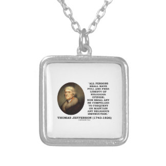 Full Free Liberty Of Religious Opinion Jefferson Necklace