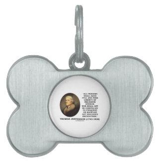 Full Free Liberty Of Religious Opinion Jefferson Pet Name Tag