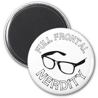 Full Frontal Nerdity 2 Inch Round Magnet