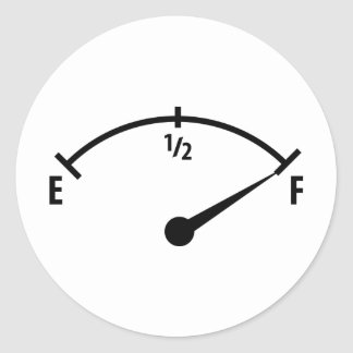full fuel indicator icon classic round sticker