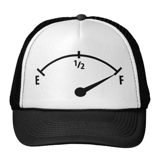 full fuel indicator icon trucker hat