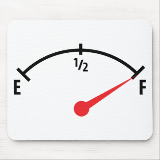full fuel tank indicator gauge mouse pad