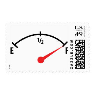 full fuel tank indicator gauge postage