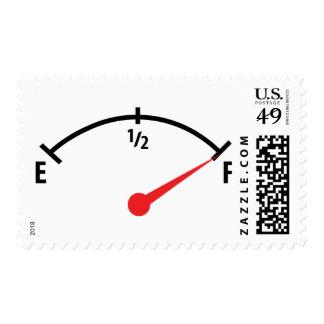 full fuel tank indicator gauge postage stamp