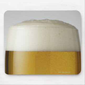 Full glass of beer indoors mousepad