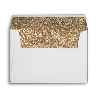 Full Gold Glitter Inside Elegant Envelope