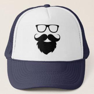 Full Grown Funny Beard Man Trucker Hat