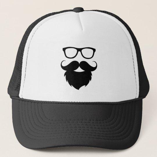 8ed16d05265 Full Grown Funny Beard Man Trucker Hat