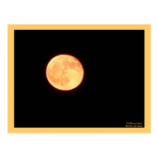 Full Harvest Moon Postcard