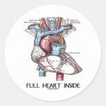 Full Heart Inside Classic Round Sticker