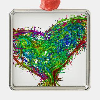 Full heart metal ornament