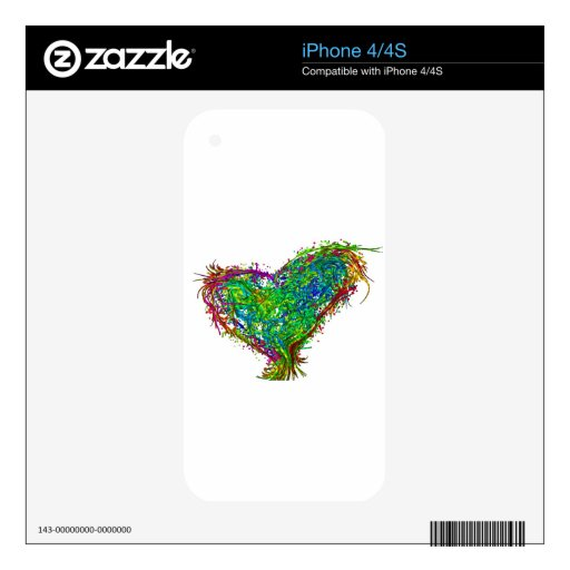Full heart iPhone 4S decal