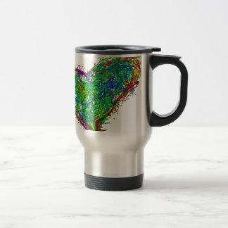 Full heart travel mug