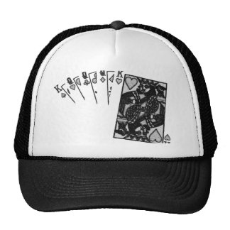 full house negative sketch greylead mesh hat