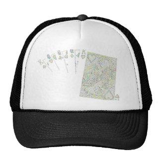 full house white tie design trucker hat