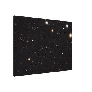Full Hubble ACS View of Spiderweb Galaxy Field Canvas Print
