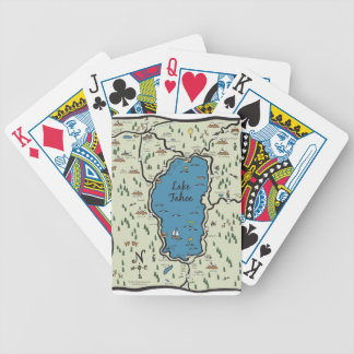 Full Lake Tahoe Area Map Bicycle Playing Cards