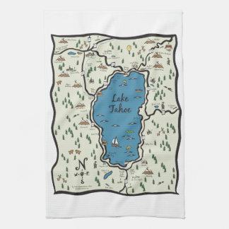 Full Lake Tahoe Area Map Hand Towel